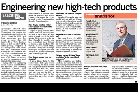 IPS co-founder talks hi-tech product design in Newsday