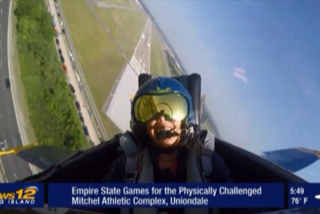 News 12 TV's Erin Colton takes off at Bethpage Air Show